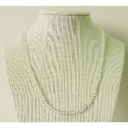 Collier Cristal de Roche Perles rondes 4mm