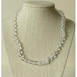 Collier Cristal de Roche Perles rondes 6mm