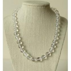 Collier Cristal de Roche Perles rondes 10mm