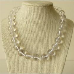 Collier Cristal de Roche Perles rondes 12mm