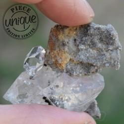 Pendentif Diamant Herkimer CAR06