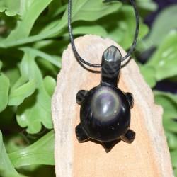 Obsidienne oeil céleste pendentif Tortue