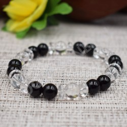 Bracelet Cristal de roche cabochon