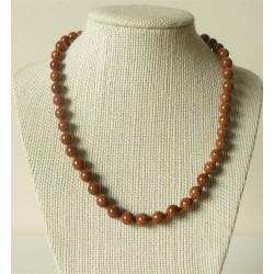 Collier pierre de soleil Perles rondes 8mm