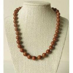 Collier pierre de soleil Perles rondes 10mm