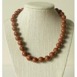 Collier pierre de soleil Perles rondes 12mm