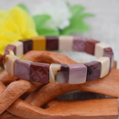 Bracelet Jaspe Mokaïte square 10mm