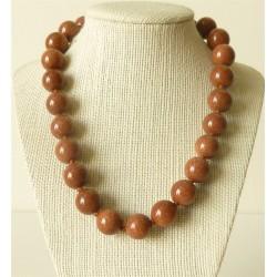 Collier pierre de soleil Perles rondes 16mm