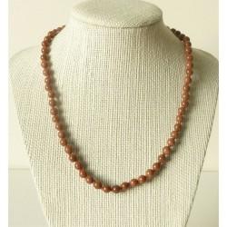 Collier pierre de soleil Perles rondes 6mm
