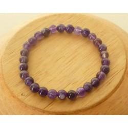 Bracelet Améthyste Perles rondes 4mm