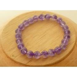Bracelet Améthyste Perles rondes 6mm