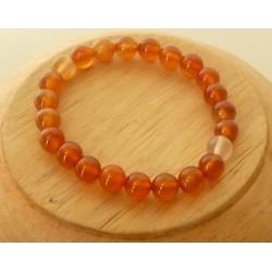 Bracelet Cornaline perles rondes 8mm