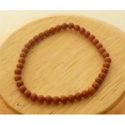 Bracelet Jaspe rouge Perles rondes