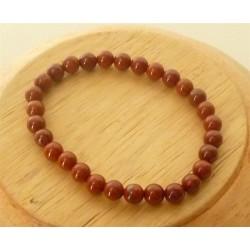 Bracelet Jaspe rouge Perles rondes 6mm