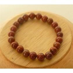 Bracelet Jaspe rouge Perles rondes 8mm
