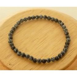 Bracelet Obsidienne mouchetée Perles rondes 4mm