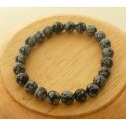 Bracelet Obsidienne mouchetée Perles rondes 8mm