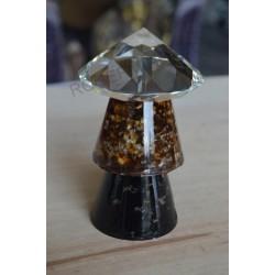 Condensateur Shungite Ambre + diamant