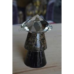 Condensateur Shungite Labradorite + diamant