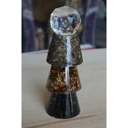Condensateur Shungite Ambre Labradorite + sphère