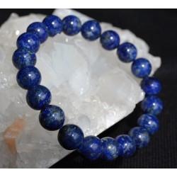 Bracelet Lapis Lazuli perles rondes 10mm