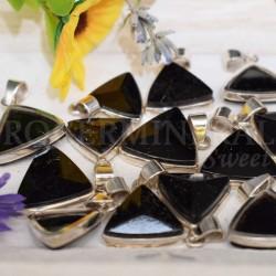 """Pendentif Shungite cristal """"tétraedre"""""""