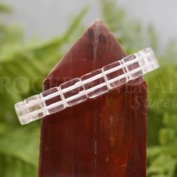 Bracelet Cristal de roche perle carrée 10mm