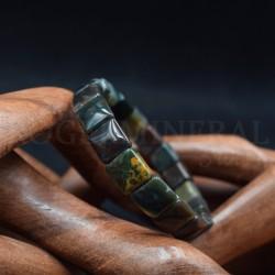 Bracelet Jaspe Polychrome square 10mm