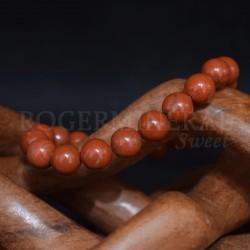 Bracelet Jaspe rouge perles rondes 10mm
