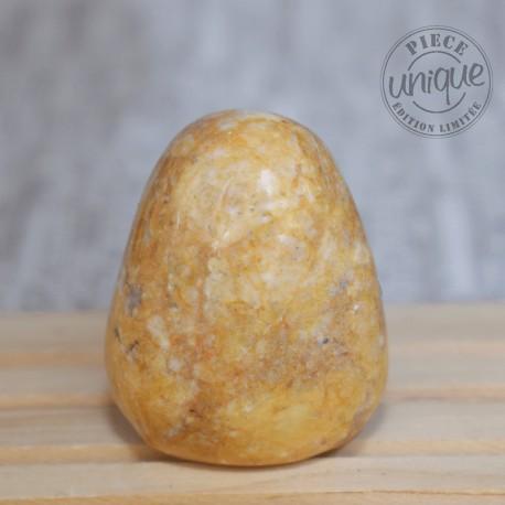Jaspe caramel grande pierre roulée JC5