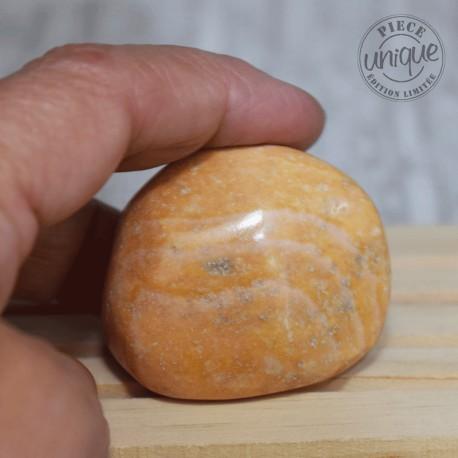 Jaspe caramel grande pierre roulée JC8
