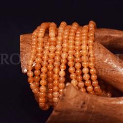 Bracelet calcite orange perles rondes 4mm