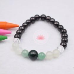 Bracelet enfant Shungite, Cristal de roche, Jade, Aventurine et Malachite