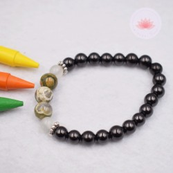 Bracelet enfant en Shungite, Jade et Jaspe orbiculaire