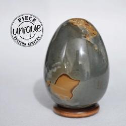 Jaspe polychrome oeuf ARQ2