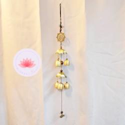 Carillon 6 clochettes symbole Feng-shui