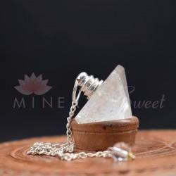 Cristal de Roche Pendule Pyramide