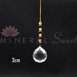 Boule Feng-shui à suspendre 3cm + divers pierres