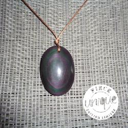 Obsidienne oeil céleste pendentif 25