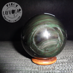 Obsidienne Oeil Céleste sphère 7