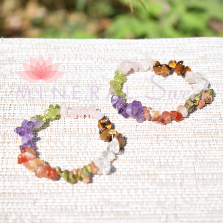 Bracelet Multi-pierres baroque naturelles et teintées