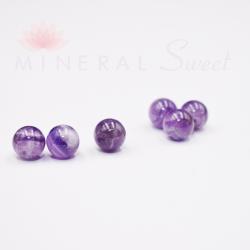 Améthyste Lavande naturelle perles 8mm prix dégressifs