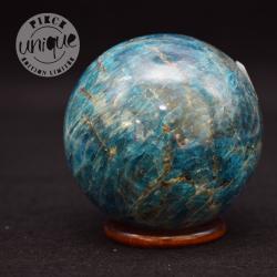 Apatite bleue sphère 10