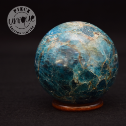 Apatite bleue sphère 6