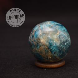Apatite bleue sphère 5
