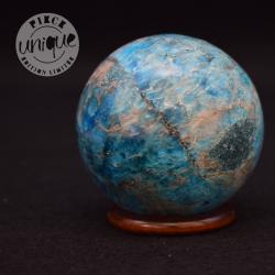 Apatite bleue sphère 7