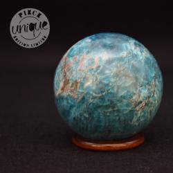 Apatite bleue sphère 9