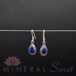Boucle d'Oreille Lapis Lazuli argent 3