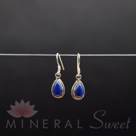 Boucle d'Oreille Lapis Lazuli argent 4