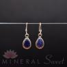 Boucle d'Oreille Lapis Lazuli faceté argent 1